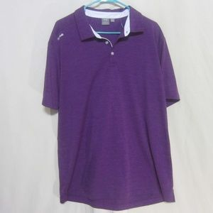 PING Purple Heather XL, Sensor Cool Collared Polo